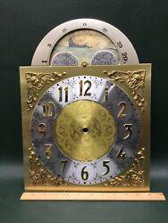 NOS Vtg Grandfather Moon Face Clock Dial ~ Reproduction of Antique Clock