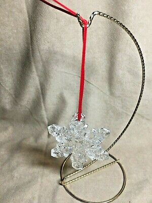 Waterford Marquis Clear Crystal Snowflake Christmas Tree Ornament Waterford Marquis Crystal Ornaments