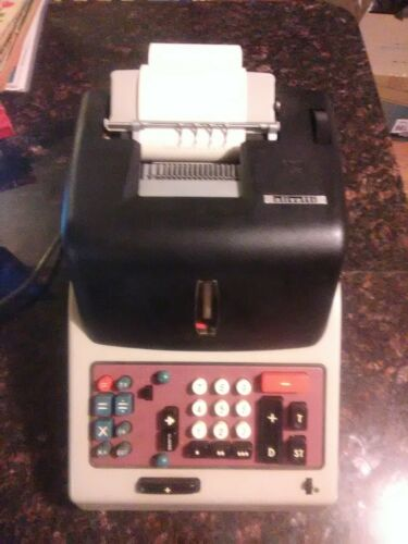 Old Vintage Electric Italy Olivetti Adding Machine working Condition 1950/60