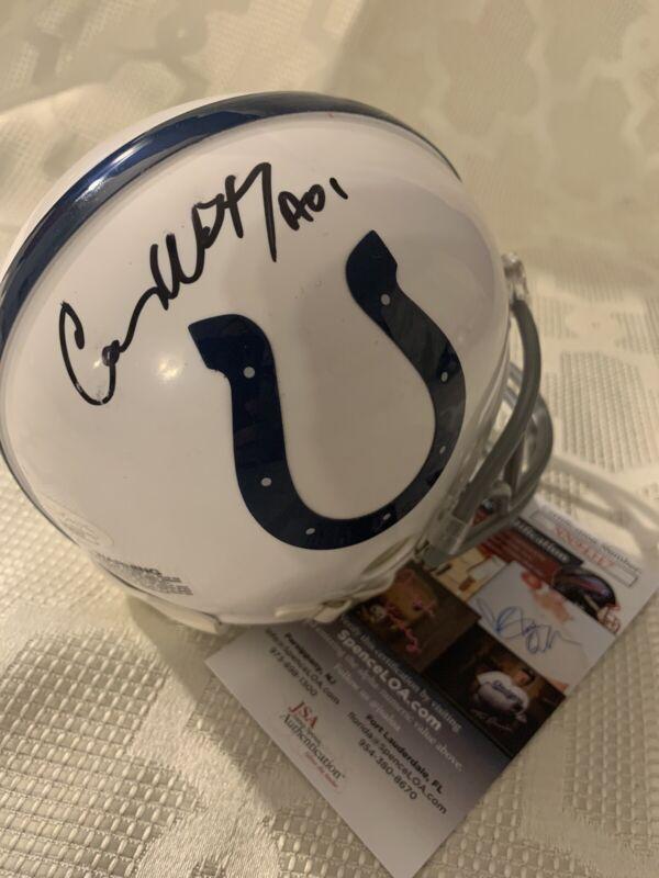 Carson Wentz Signed Indianapolis Colts Mini Helmet JSA Authentication COA