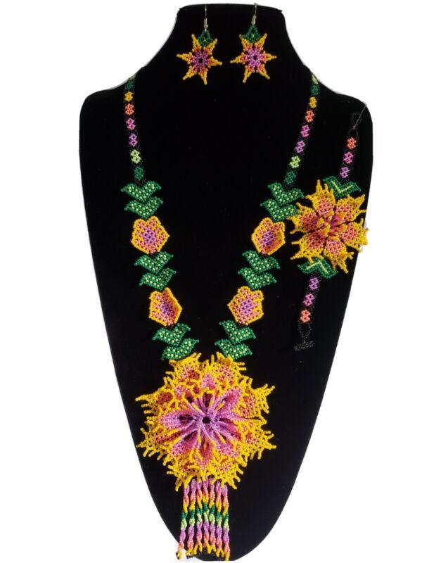 Huichol beads,3pcs mexican women