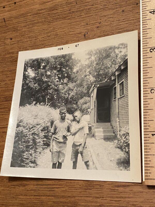 Vintage B&W photo African American Children 1967 - read description