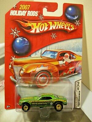 Hot Wheels 2007 Holiday Rods Plymouth Barracuda Funny Car Real Riders