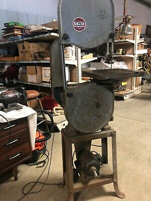 Rockwell Delta Lbs-28 14 Vertical Band Saw - 115 Volt Wood And Metal Runs Great