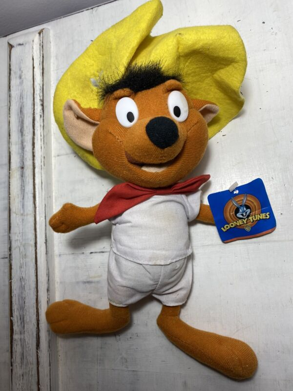 VIntage Speedy Gonzales Looney Tunes Stuffed Animal Plush Doll With Tag 1997