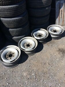 "4x rims GM acier 16"" 6 Trous original"