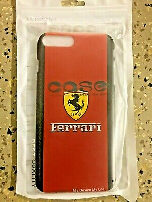 For iPhone 7 plus 8 Plus Case Red Brand new ferrari Cover