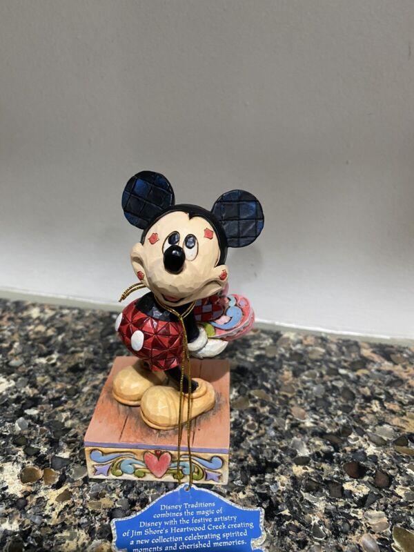 Disney Jim Shore Mickey Mouse Love Struck Valentine's Day Hearts 4031477