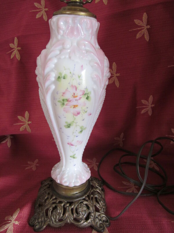 Vintage Consolidated Glass Puffy Lamp