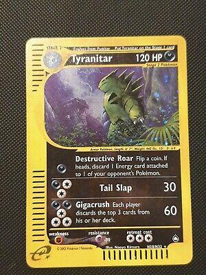 Pokemon x1 Tyranitar - H28/32 - Holo Rare -  Aquopolis MINT