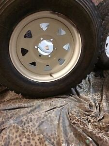 5 Sunraysia steel wheels with off-road tyres Rivervale Belmont Area Preview
