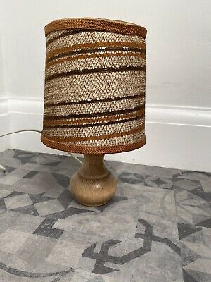 Vintage Mid Century Modern Scandi Style Wooden Table LampBase Lamp