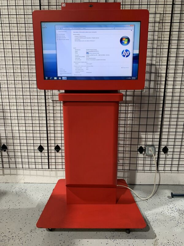 """Free Standing 32"""" Touchscreen Retail Restaurant Kiosk HP Computer Included"""