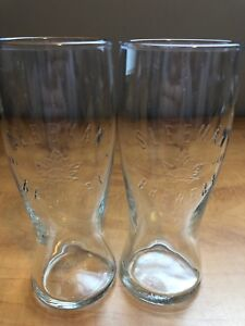 Pair of sleeman embossed glasses