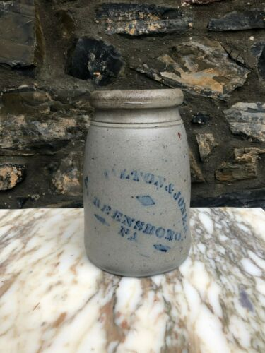 Wonderful Antique Stoneware Jar, Hamilton and Jones, Greensboro PA