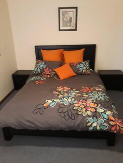 Dark Solid Timber Bedroom suite, Queen , excellent condition