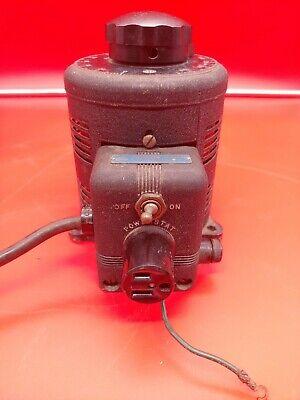 Vintage Superior Electric Powerstat 116 Variac Variable Autotransformer Working