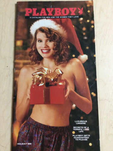 Playboy Catalog Holiday 1991 sexy cover + includes order form intact