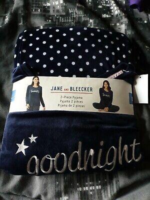 Jane and Bleecker 2 Piece PJ Set Pyjama Sleepwear Nightwear. Size L