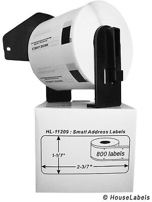 20 Rolls Of Dk-1209 Brother-compatible Address Labels With 2 Reusable Cartridges