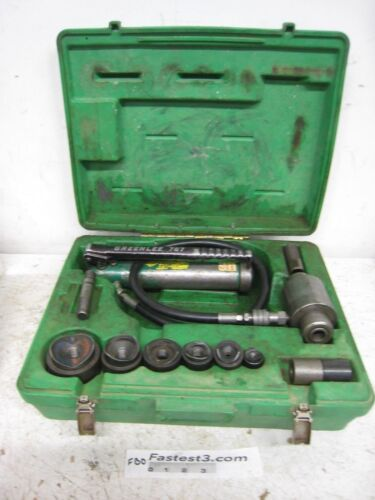 """GREENLEE 7306 HYDRAULIC KNOCKOUT PUNCH AND DIE SET 1/2 to 2"""""""