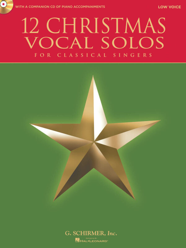 12 Christmas Vocal Solos Low Voice Classical Sheet Music Sing-Along Book CD