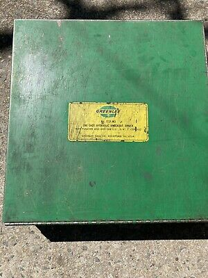 Greenlee No 1731-m3 One Shot Hydraulic Knockout Driver With Punches And Dies Set