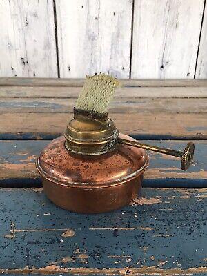 Antique Copper & Brass Spirit Burner 8 x 6.5 cm Working Order