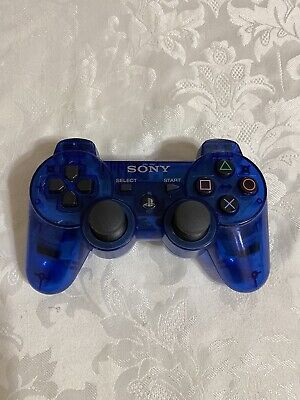Sony dualshock 3 OEM Playstation 3 Wireless Controller PS3 Blue Clear tested
