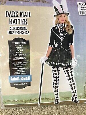 Adult Dark Mad Hatter Costume Size Small](Dark Mad Hatter)