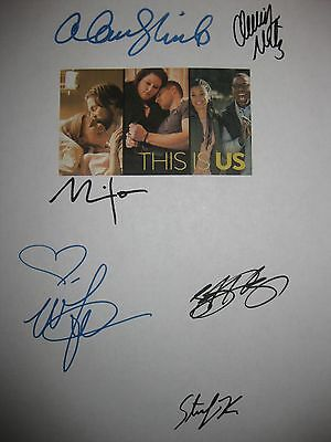 This Is Us signed TV Script X6 Alan Thicke Milo Ventimiglia Mandy Moore Metz RPT