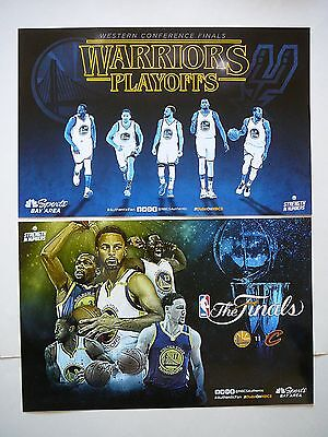 Golden State Warriors 2017 Playoffs   The Finals Vs Cavs Authentic Fan Posters