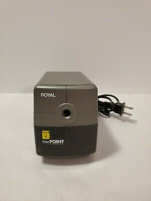 Royal Power Point Electric Pencil Sharpener With Auto Stop Works Great