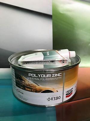 Stucco a Spatula Polydur Zinc for Bodyshell 04 380 kg 1,3 + Hardener 00 281