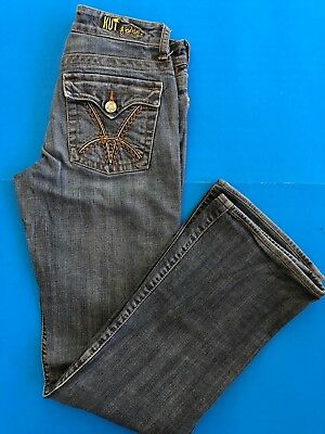 - KUT From The Kloth Boot Cut Jeans 2. Inseam 30. Button Flap back Pockets Zip Fly