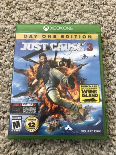 Just Cause 3 Day One Edition Microsoft Xbox One, 2015 Excellent Condition  - $7.99