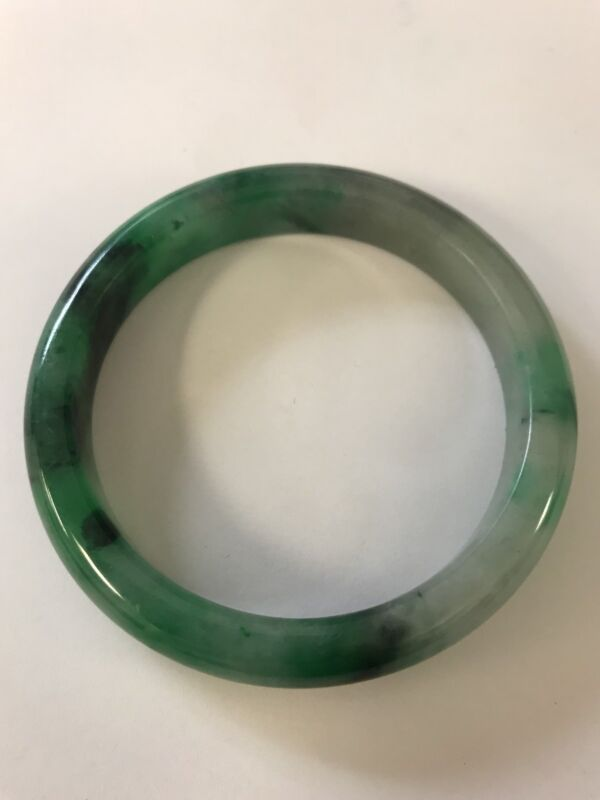 Vintage-Translucent-Natural-Green-Jadeite-Jade-Bangle-Bracelet-60MM