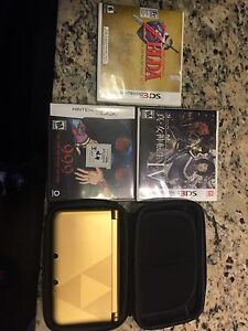 Zelda 3DS XL, Case, 4 Games