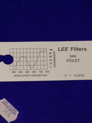 """Lee Filters L344 Violet Lighting Gel Sheet  21"""" x 24"""""""