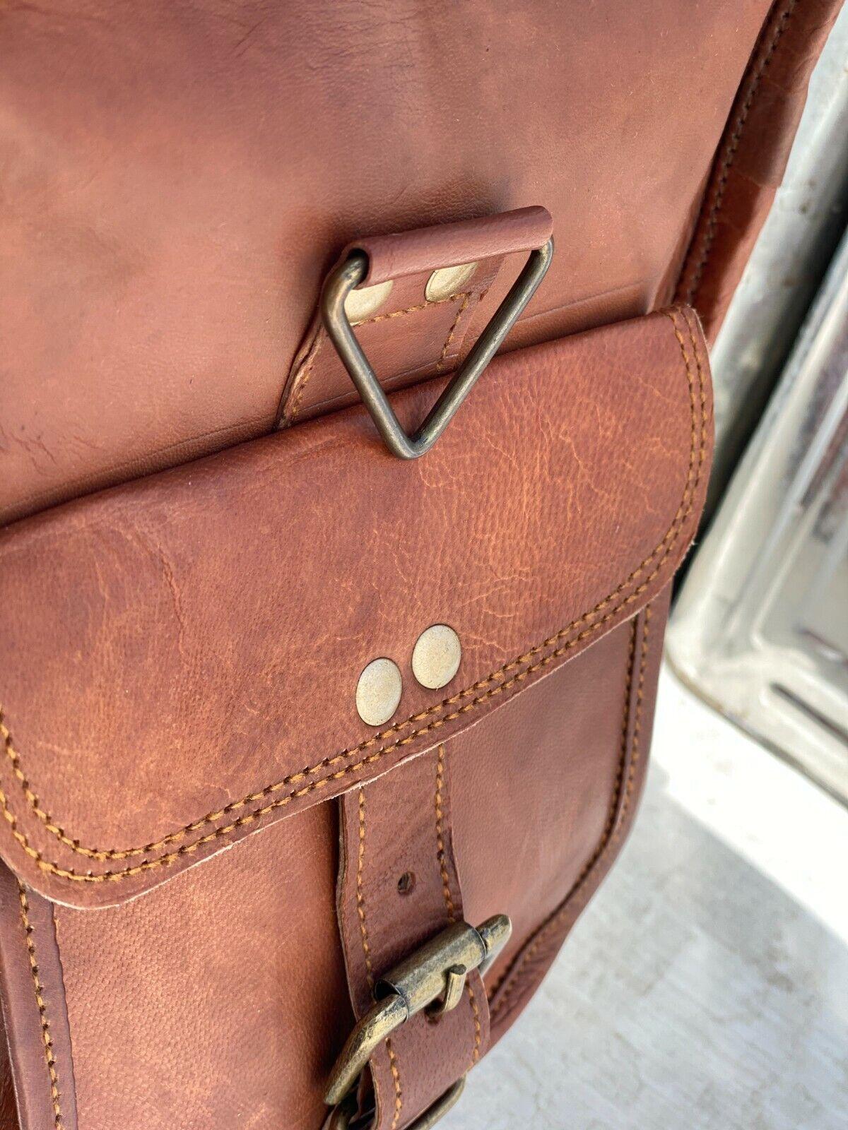 20 And 25 Leather Duffel Travel Gym Vintage Men Brown Luggage Weekend Bag Tote - $53.94