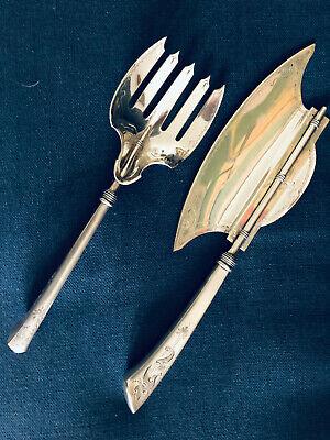 - Gorham 2 piece fish serving set 1870 Angelo pattern