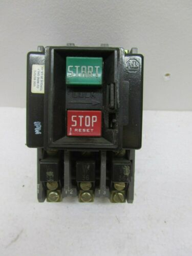 ALLEN BRADLEY BUL. 609-AOW, 3 PHASE, MANUAL STARTER, USED