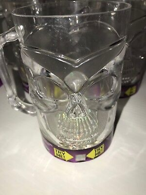 LED Light-Up Skull Tankard  Mug Blue Green Red Lights Gift Idea Lot of 2](Halloween Light Decoration Ideas)