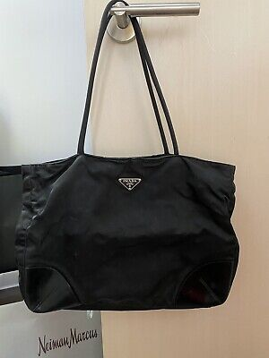 Authentic Prada Leather And Nylon Tote Bag