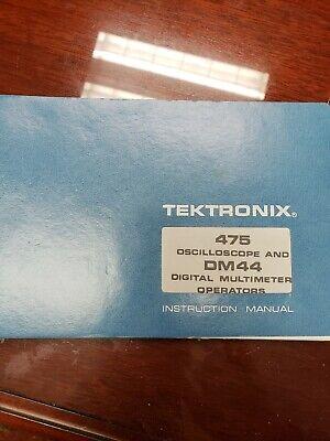 Tektronix 475a Oscilloscope Dm 44 Digital Multimeter Operator Instruction Manual