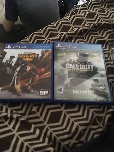Call of duty and second son no mw