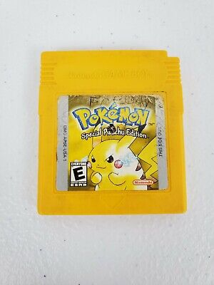 Pokemon Yellow Version Special Pikachu Edition Game Boy 1999 Authentic Cart Only