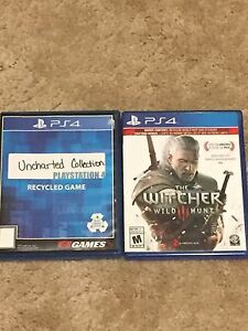 Witcher 3 and uncharted the Nathan drake collection