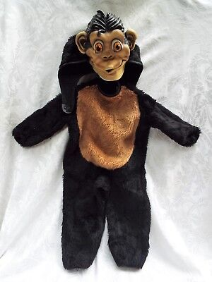Vintage Rubie's Costume Co. NYC Children's Infant Halloween Monkey Ape Costume