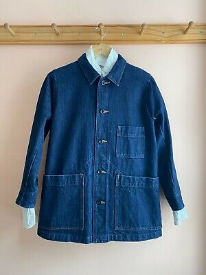 MHL by Margaret Howell x CANTONOVERALLS made in Japan indigo denim chore coat P